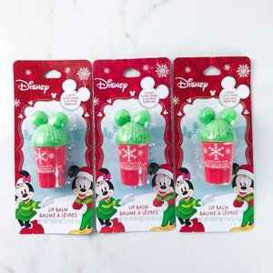 Mickey Mouse Hat Shaped Lip Balm Candy x3